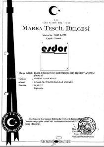 ESDOR MARKA BELGESİ