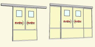 Otomatik Fotoselli Kayar Kapı Sedye Kapısı